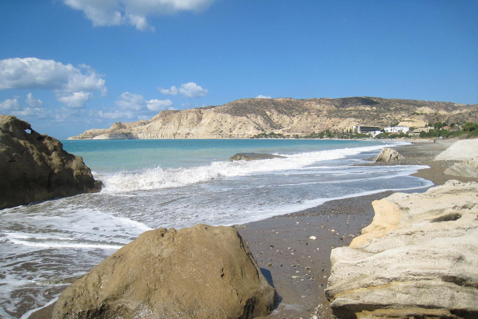 Pissouri Blue Flag Beach and Crystal Clear Sea ...